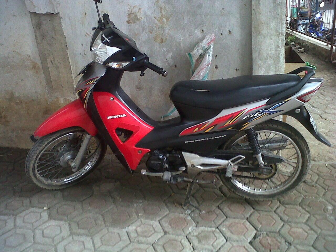 Terjual Honda Supra Fit X Black Engine Warna Merah Silver 2008 Mulus Bandung