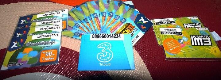 jual kartu perdana internet,BIS xl hotroad, flash 3 bulan , indosat, three {solo}