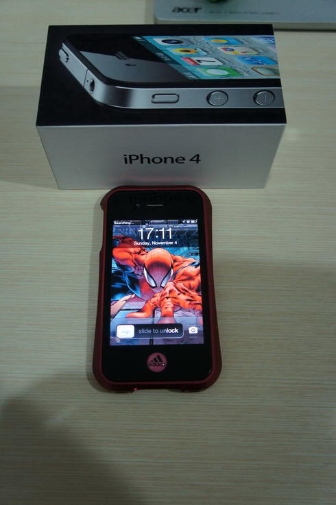 Jual iphone 4 16gb FU FULLSET,Mulus 98%