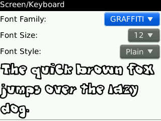 Felly's Font Collection All Blackberry (BB) Type