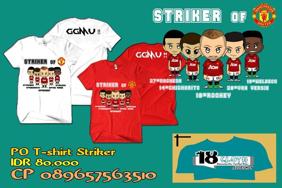 PO Kaos Striker Manchester United 2012