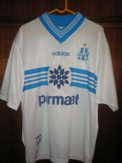 rare olympic marseille 1997 jersey Ori ADIDAS made in england