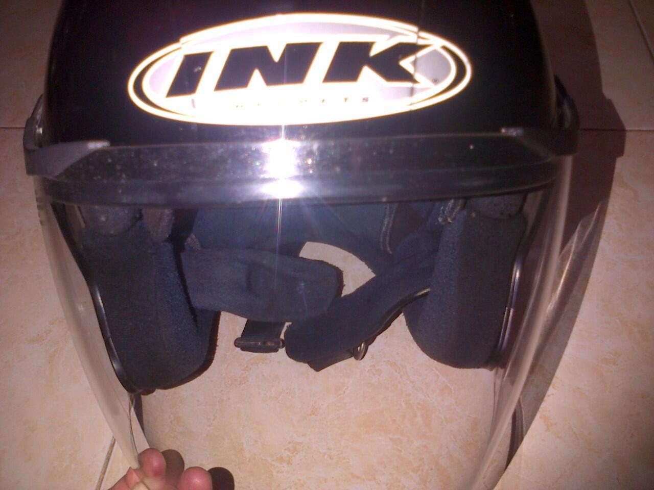 Helm Ink Enzo Black Metalic Double Visor