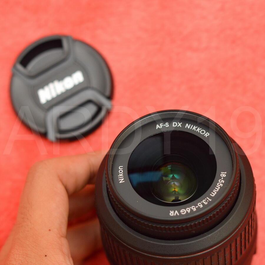 NIKON AFS 18-55mm f3.5-5.6G DX VR ALTA copotan D3200