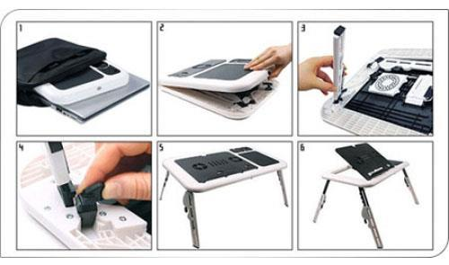 Jual E-table Meja Laptop Portable with Cooling Fan