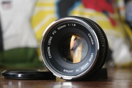 Lensa Manual CANON 50mm f1.8. Murah