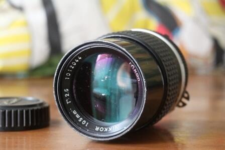 Lensa manual NIKON 105mm f2.5 ais. Murah
