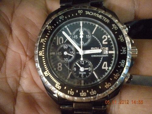 Jam Tangan Police Black Polished