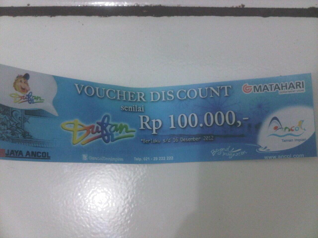 Jual Voucher Discount Dufan 100.000 seharga 50.000