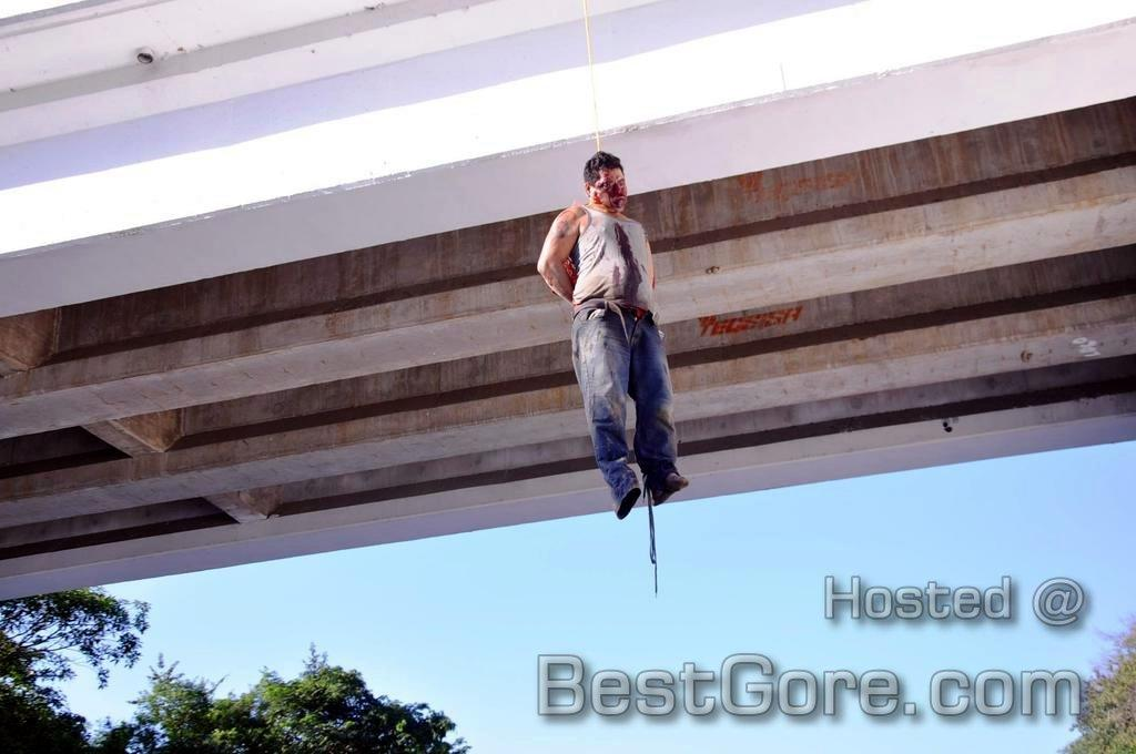 Man Shot in the Head and Hanged from a Bridge in Acapulco, Mexico