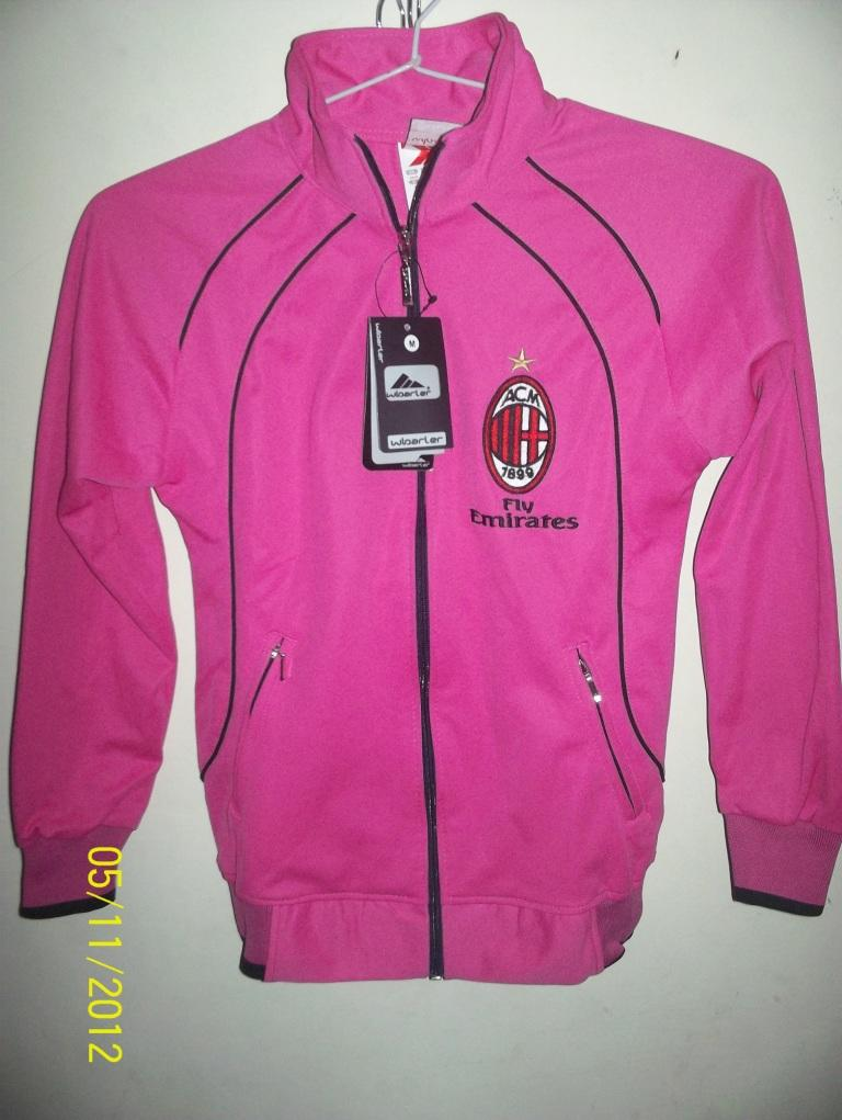 Jaket Bola Ac Milan Pink Size M For Ladies {Limited Edition}...