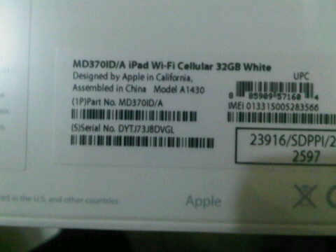 [Jual] New Ipad / Ipad 3 Celluler + Wifi 32 GIGA White (Murah) BNIB