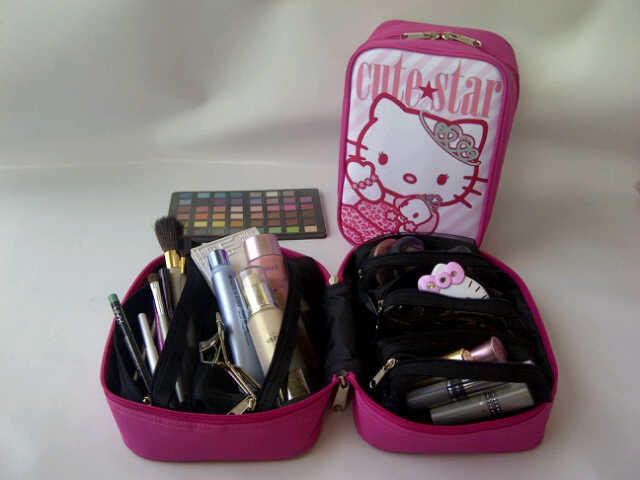 Cosmetic bag organizer hello kitty