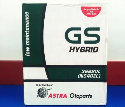 Terjual Jual Aki Mobil GS Astra Hybrid Harga Murah U