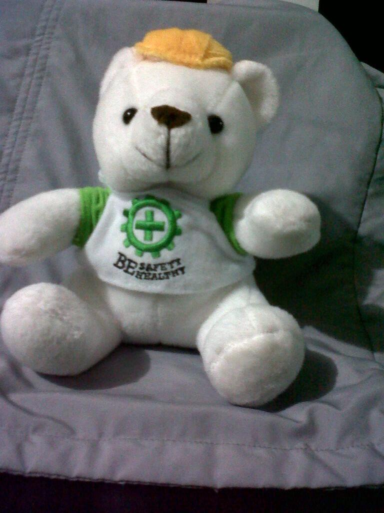 "<WTS> boneka beruang ""Safety Bear Officer"""