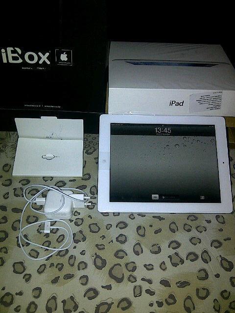 Apple: Jual 2nd New iPad 3 WiFi+3G White 16GB Baru Pakai Seminggu