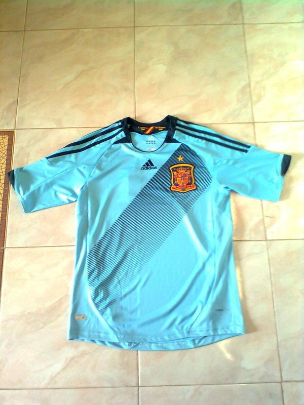 Lelang Jersey Spanyol Away Euro 2012 Grade Ori