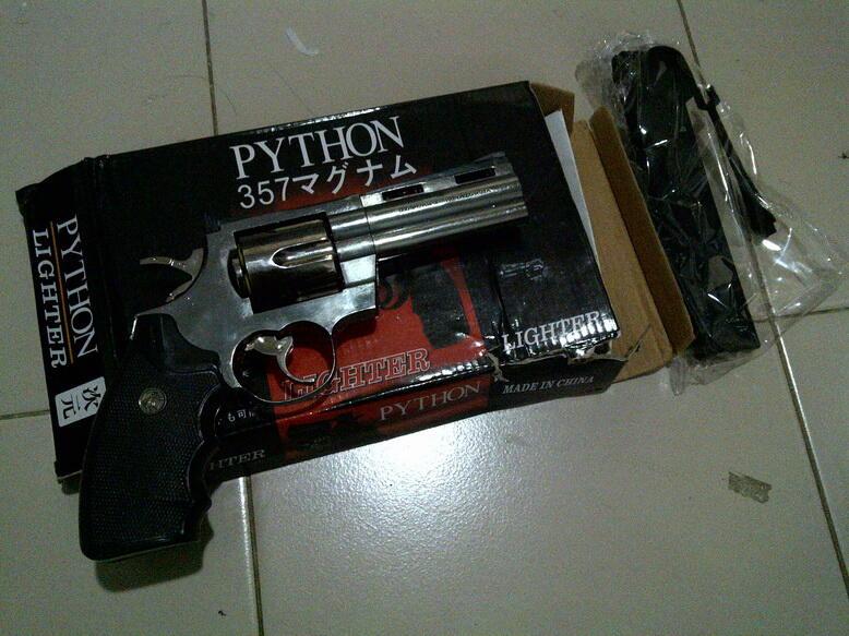 LIGHTER / KOREK API PISTOL REVOLVER PYTHON 357 MURAH!! OKE!!