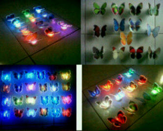 Grosir china, barang barang unik, optical fiber butterfly light's up, kupu2 nyala