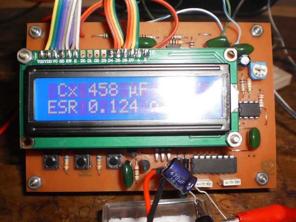 ESR dan Kapasitor Meter [Pre ORDER]