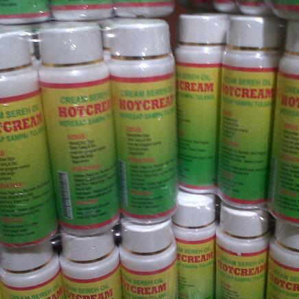 Distributor HOT CREAM Sereh Oil Meresap Sampai Tulang, Tidak Lengket Termurah Grosir