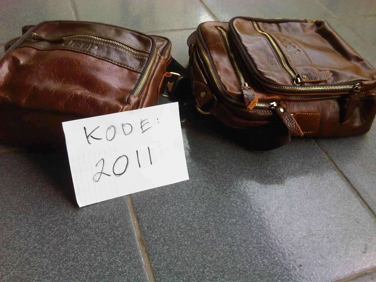 Tas cowo / pria JEEP import, kulit asli