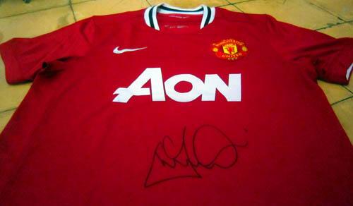 Jual Jersey Manchester United Tanda Tangan Asli Andrew 'Andy' Cole