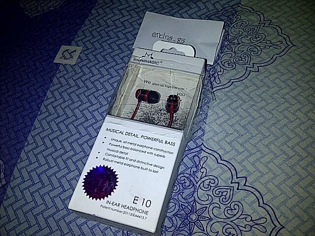 Earphone SOUNDMAGIC E10 BNIB sealed garansi resmi 1 tahun paling murah di kaskus