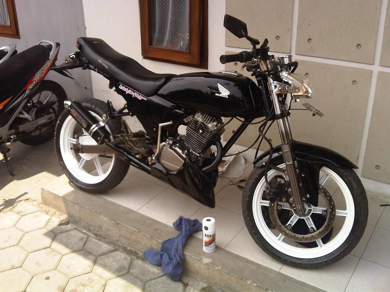Jual Honda GL-PRO Tahun 1993 (Black) Modif - Bandung - Plat Z