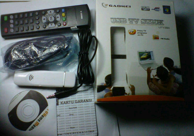 USB STICK TV TUNNER Gadmei UTV380, Mulus & Murah....