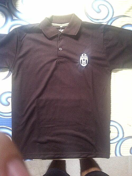 polo shirt juventus juve kw lokal size L warna cokelat