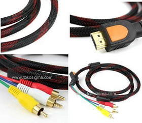 Kabel-Cable HDMI* Mini DisplayPort Macbook* HDMI-RCA,HDMI ke VGA,converter