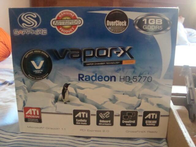 VGA Card Ati Radeon HD 5770 Sapphire VaporX