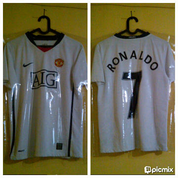 WTS JERSEY MANCHESTER UNITED HOME 2004 DAN AWAY 2009