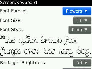 Felly's Font Collection All Type Blackberry (BB)
