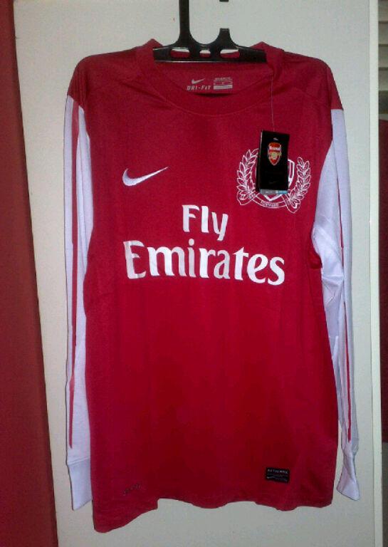 jersey arsenal home LS (lengan panjang) grade ori 2011/2012