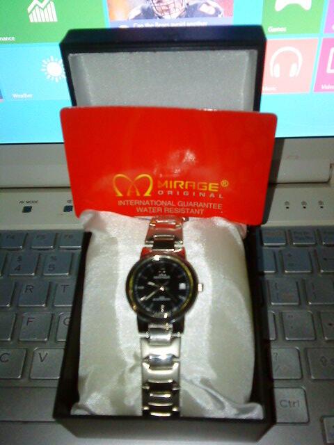 WTS. MIRAGE Watch sepasang male/female 400K (koleksi sendiri)