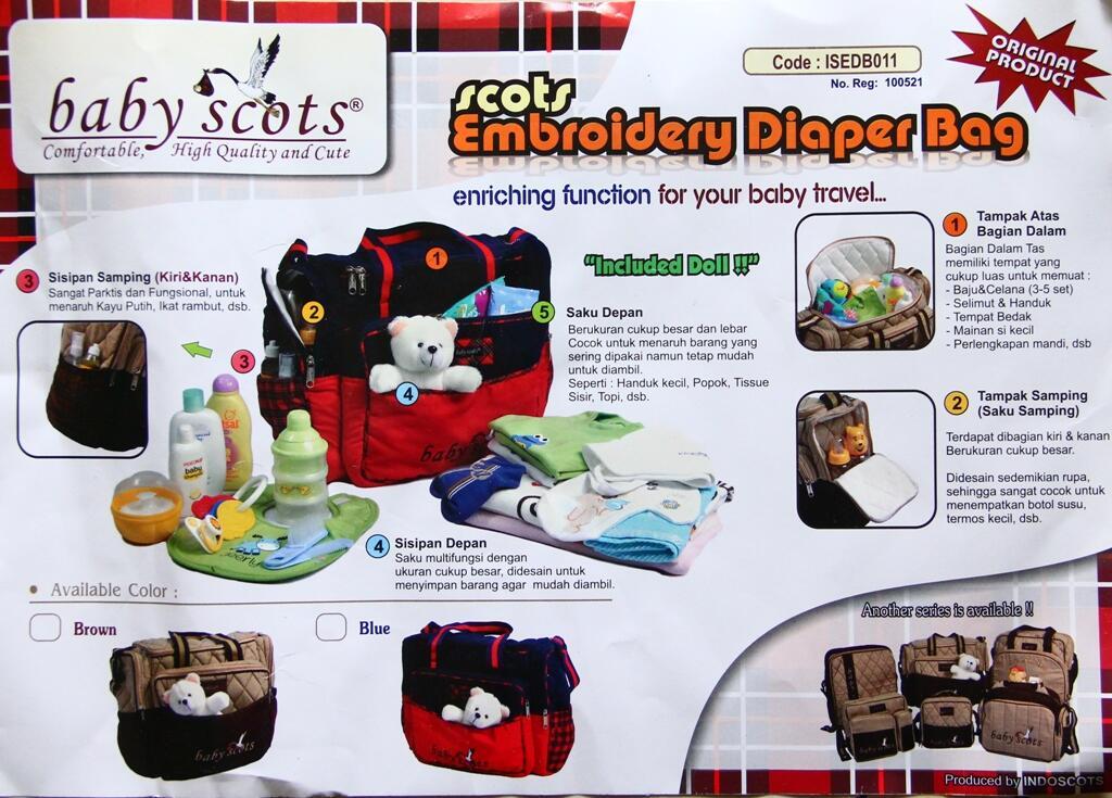 Tas Baby Scots + Boneka Beruang Putih