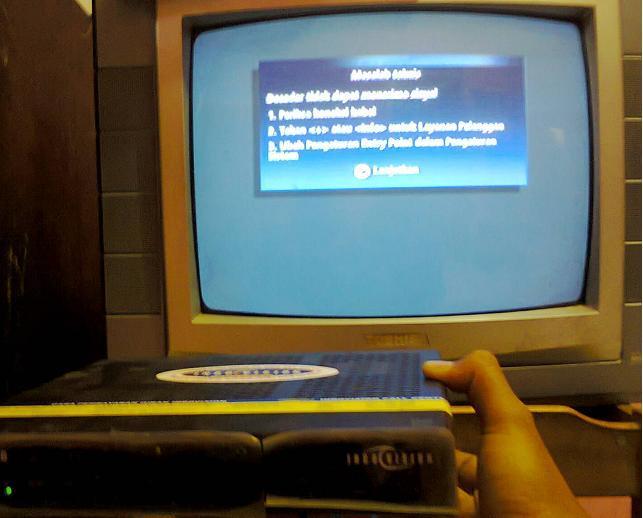 Decoder Humax nd-2200s ex Indovision, plus remote