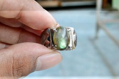 Jual Cincin Batu Giok,Cincin Batu Labradorite, Batu Kecubung Ungu