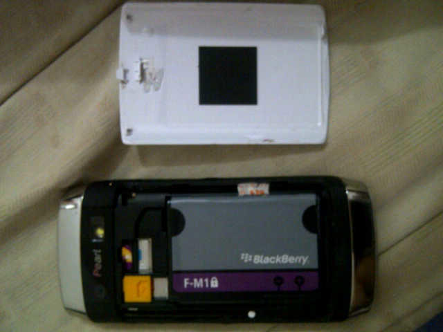 BLACKBERRY PEARL 9105 WHITE GARANSI