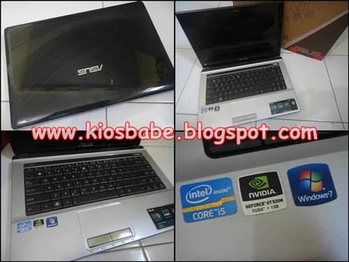 Laptop Second Asus Core i5 Game / Design - Malang