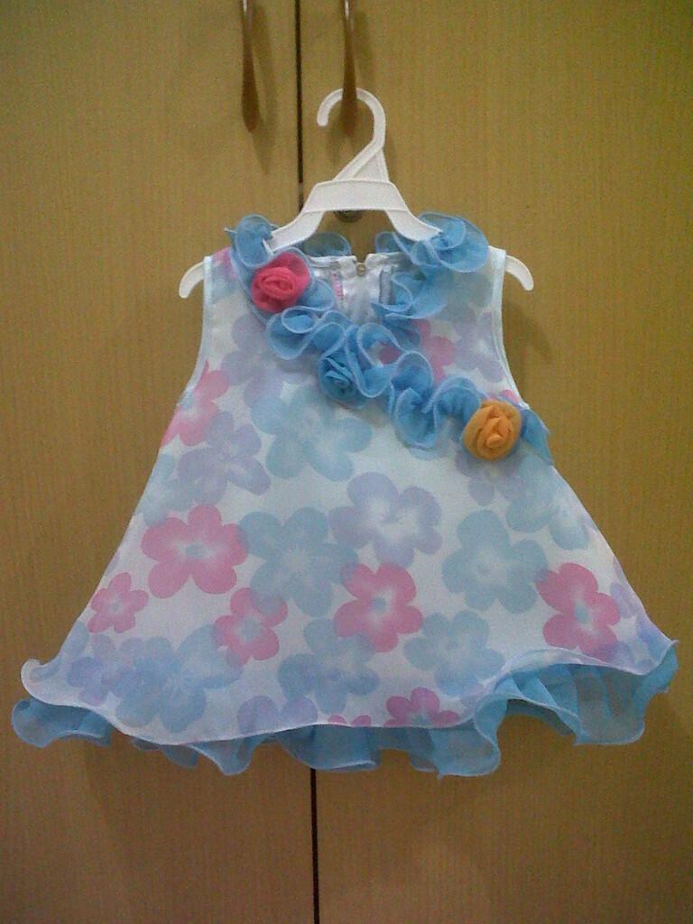 party dress hawai blue untuk ank ce 9-12bln
