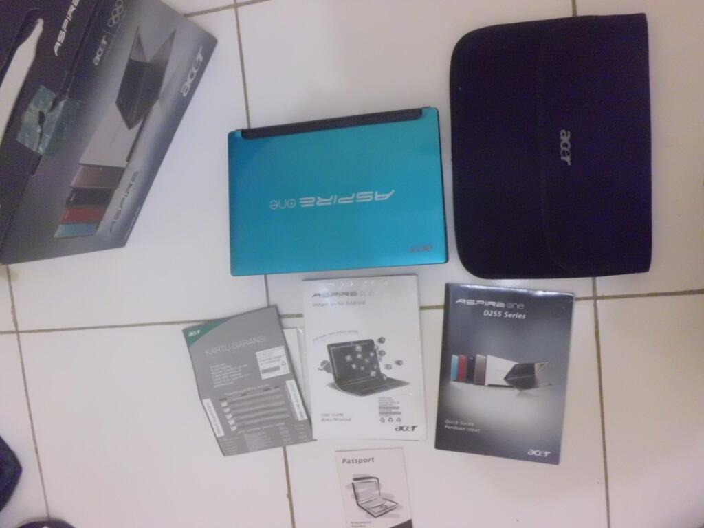 Netbook ACER BIRU Dual Core N550 Batere 6 Jam
