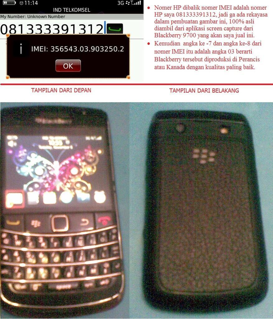 Jual dengan Harga Bersahabat... Blackberry 9700 (Onyx 1)