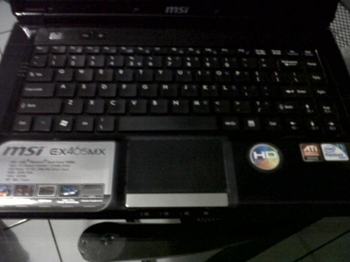 MSI EX465MX Gaming laptop ATi Radeon 512mb RAM 2gb HDD 320gb 3jt an Bandung