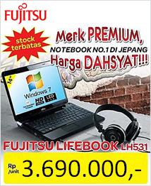 [tabletpcmall.com] Laptop Fujitsu Lifebook LH531 14 inci Windows 7 Home Original