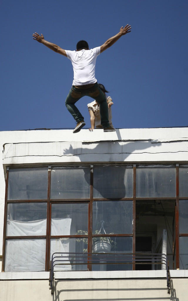 Suicide Jumping Off Building