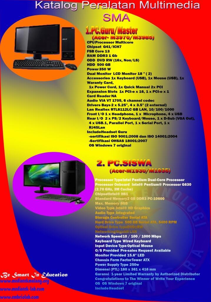 Peralatan Multimedia SMA 2012