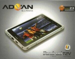 """tablet pc ipad apad epad mid merk ADVAN T2V CAPASITIV 7"""" CALL,SMS,INTERNAL MODEM,TV,"""